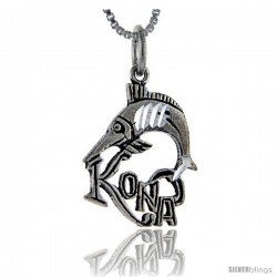 Sterling Silver Kona Talking Pendant, 1 in wide -Style Pa901