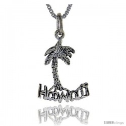 Sterling Silver Hawaii Talking Pendant, 1 in wide -Style Pa903