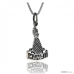 Sterling Silver Hawaii Talking Pendant, 1 in wide -Style Pa904