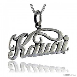 Sterling Silver Kauai Talking Pendant, 1 in wide