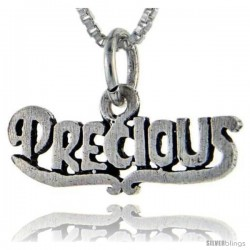 Sterling Silver Precious Talking Pendant, 1 in wide -Style Pa919