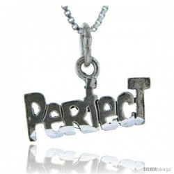 Sterling Silver Perfect Talking Pendant, 1 in wide -Style Pa917