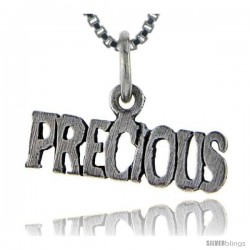 Sterling Silver Precious Talking Pendant, 1 in wide