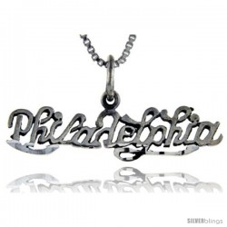 Sterling Silver Philadelphia Talking Pendant, 1 in wide