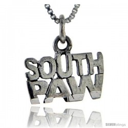 Sterling Silver South Paw Talking Pendant, 1 in wide