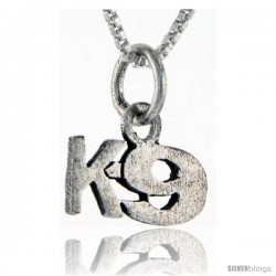 Sterling Silver K9 Talking Pendant, 1 in wide