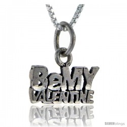Sterling Silver Be My Valentine Talking Pendant, 1 in wide