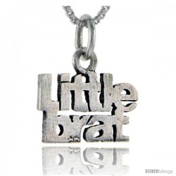 Sterling Silver Little Brat Talking Pendant, 1 in wide
