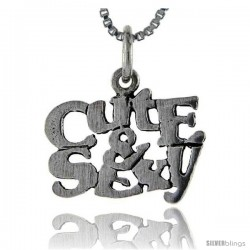 Sterling Silver Cute and Sexy Talking Pendant, 1 in wide