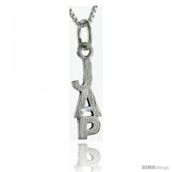 Sterling Silver JAP Talking Pendant, 1 in wide -Style Pa944