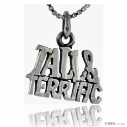 Sterling Silver Tall and Terrific Talking Pendant, 1 in wide
