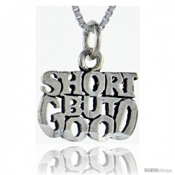 Sterling Silver Short but Good Talking Pendant, 1 in wide