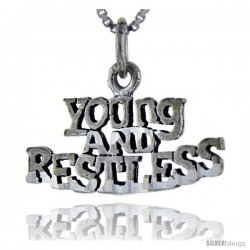 Sterling Silver Young and Restless Talking Pendant, 1 in wide