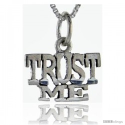 Sterling Silver Trust Me Talking Pendant, 1 in wide