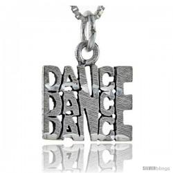 Sterling Silver Dance Dance Dance Talking Pendant, 1 in wide
