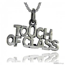 Sterling Silver Touch of Class Talking Pendant, 1 in wide
