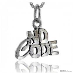 Sterling Silver No Code Talking Pendant, 1 in wide