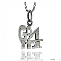 Sterling Silver Go For It Talking Pendant, 1 in wide