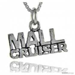 Sterling Silver Mall Cruiser Talking Pendant, 1 in wide