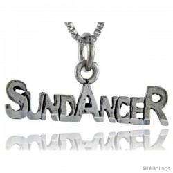 Sterling Silver Sun Dancer Talking Pendant, 1 in wide
