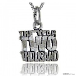 Sterling Silver The Year 2000 Talking Pendant, 1 in wide