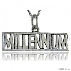Sterling Silver Millennium Talking Pendant, 1 in wide