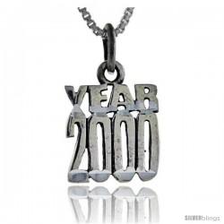 Sterling Silver Year 2000 Talking Pendant, 1 in wide