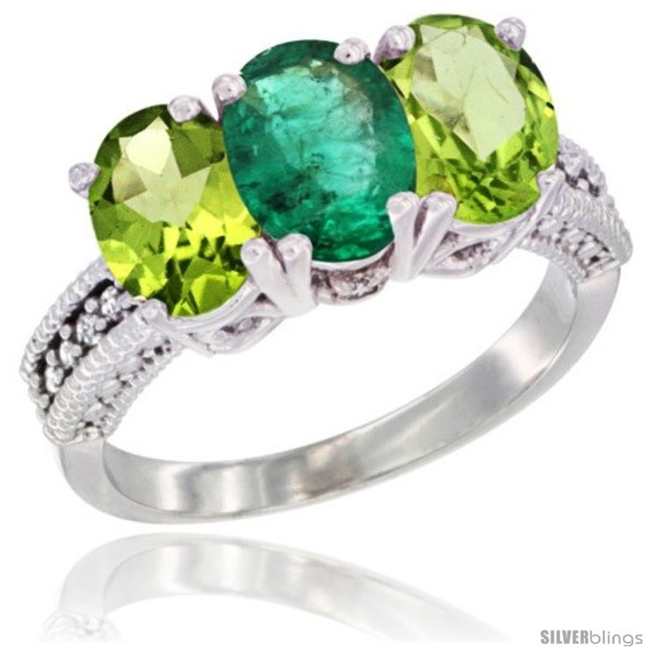 https://www.silverblings.com/76812-thickbox_default/10k-white-gold-natural-emerald-peridot-sides-ring-3-stone-oval-7x5-mm-diamond-accent.jpg