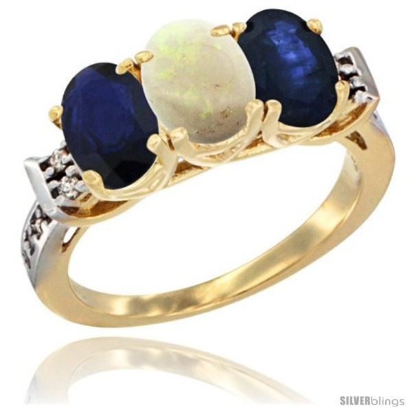 https://www.silverblings.com/76934-thickbox_default/10k-yellow-gold-natural-opal-blue-sapphire-sides-ring-3-stone-oval-7x5-mm-diamond-accent.jpg