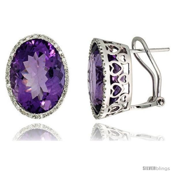 https://www.silverblings.com/76978-thickbox_default/14k-white-gold-large-stone-french-clip-earrings-w-0-33-carat-brilliant-cut-diamonds-21-00-carats-16x12mm-oval-cut-amethyst.jpg