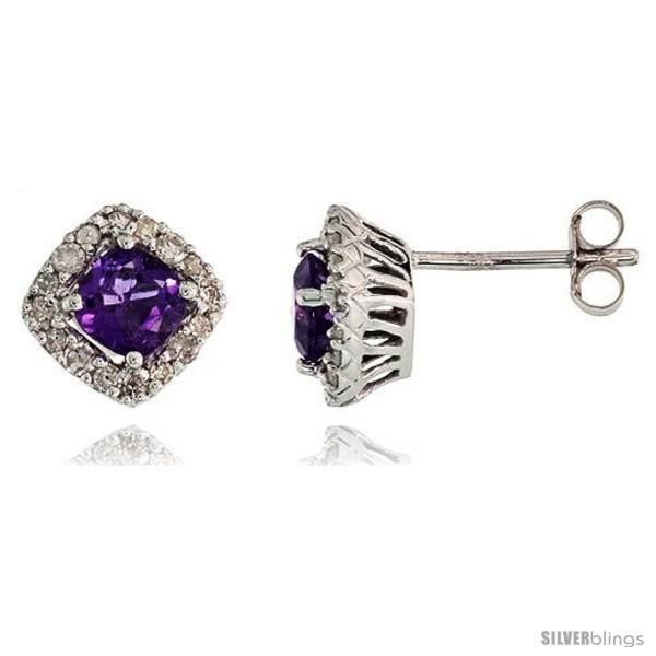 https://www.silverblings.com/76994-thickbox_default/14k-white-gold-stud-stone-earrings-w-0-30-carat-brilliant-cut-diamonds-1-30-carats-5mm-cushion-cut-amethyst-stone-5-16.jpg