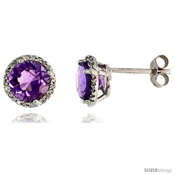 https://www.silverblings.com/77006-thickbox_default/14k-white-gold-stud-stone-earrings-w-0-12-carat-brilliant-cut-diamonds-2-95-carats-7mm-amethyst-stone-3-8-9mm.jpg