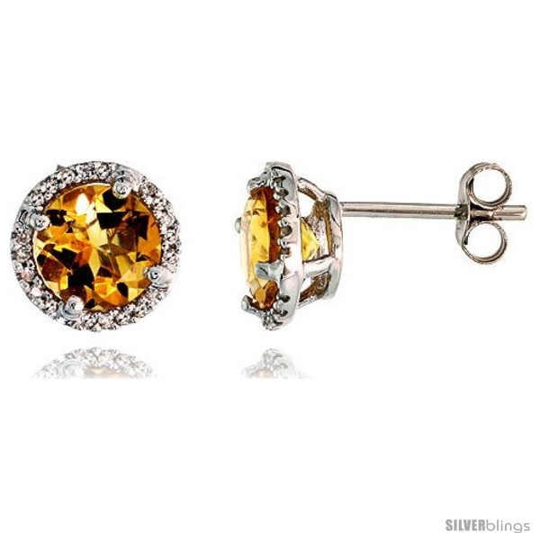 https://www.silverblings.com/77010-thickbox_default/14k-white-gold-stud-stone-earrings-w-0-12-carat-brilliant-cut-diamonds-2-95-carats-7mm-citrine-stone-3-8-9mm.jpg