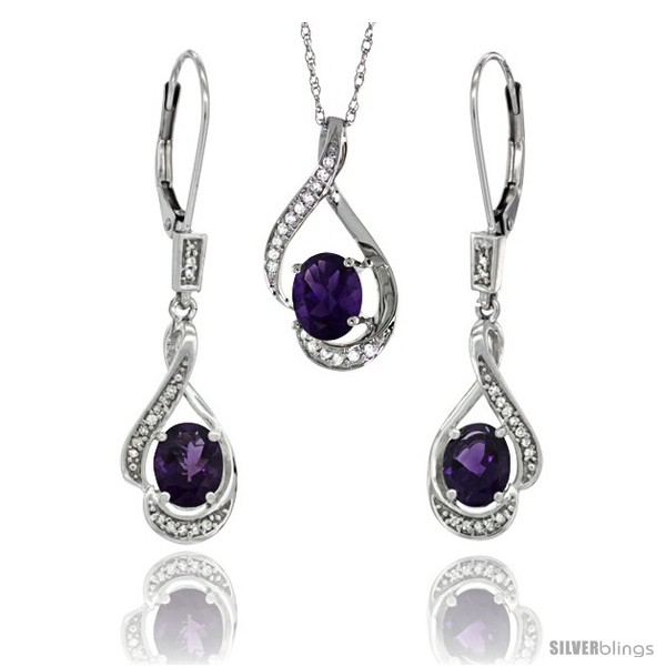 https://www.silverblings.com/77158-thickbox_default/14k-white-gold-natural-amethyst-lever-back-earrings-pendant-set-diamond-accent.jpg