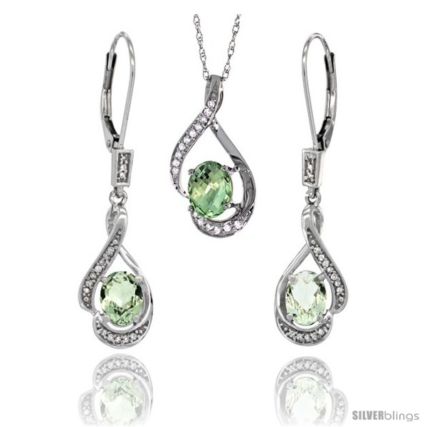 https://www.silverblings.com/77164-thickbox_default/14k-white-gold-natural-green-amethyst-lever-back-earrings-pendant-set-diamond-accent.jpg