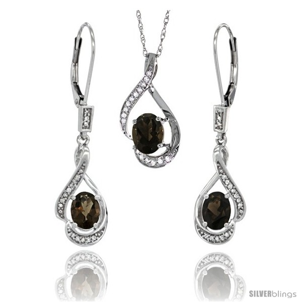 https://www.silverblings.com/77174-thickbox_default/14k-white-gold-natural-smoky-topaz-lever-back-earrings-pendant-set-diamond-accent.jpg