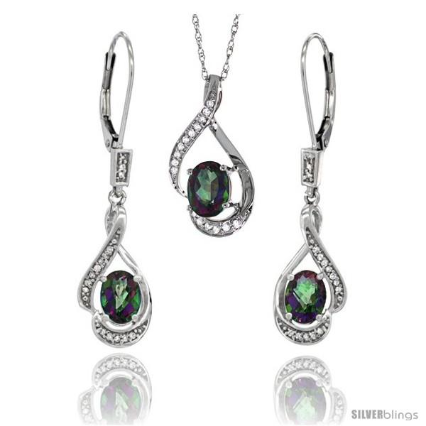 https://www.silverblings.com/77176-thickbox_default/14k-white-gold-natural-mystic-topaz-lever-back-earrings-pendant-set-diamond-accent.jpg