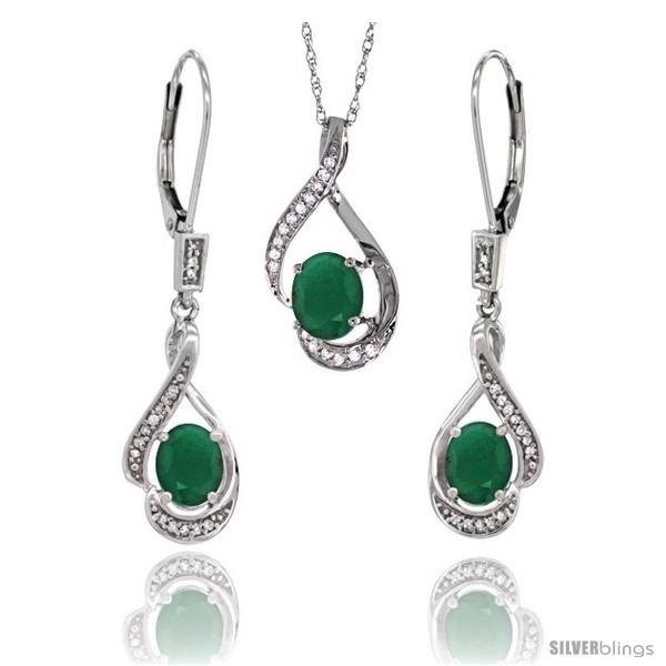 https://www.silverblings.com/77198-thickbox_default/14k-white-gold-natural-emerald-lever-back-earrings-pendant-set-diamond-accent.jpg