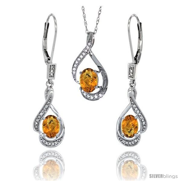 https://www.silverblings.com/77218-thickbox_default/14k-white-gold-natural-whisky-quartz-lever-back-earrings-pendant-set-diamond-accent.jpg