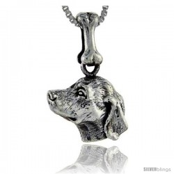 Sterling Silver Golden Retriever Dog Pendant -Style Pa995