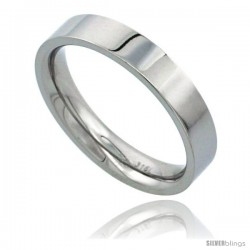 Surgical Steel 4mm Wedding Band Thumb Ring Comfort-Fit High Polish