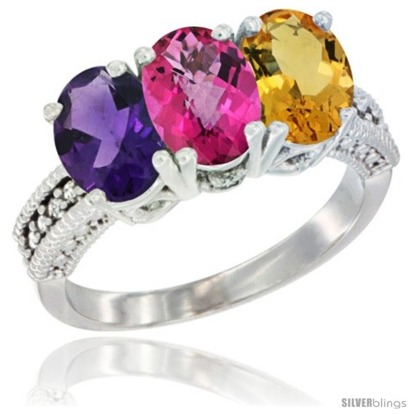 https://www.silverblings.com/77490-thickbox_default/14k-white-gold-natural-amethyst-pink-topaz-citrine-ring-3-stone-7x5-mm-oval-diamond-accent.jpg