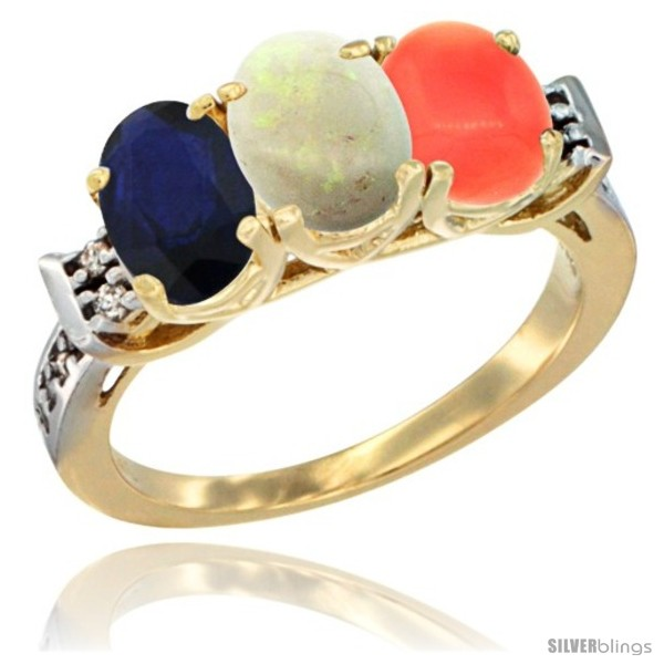 https://www.silverblings.com/77500-thickbox_default/10k-yellow-gold-natural-blue-sapphire-opal-coral-ring-3-stone-oval-7x5-mm-diamond-accent.jpg
