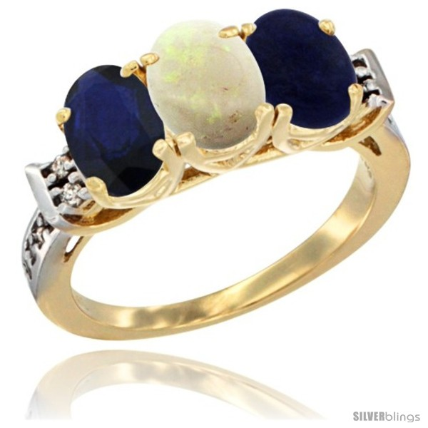 https://www.silverblings.com/77502-thickbox_default/10k-yellow-gold-natural-blue-sapphire-opal-lapis-ring-3-stone-oval-7x5-mm-diamond-accent.jpg