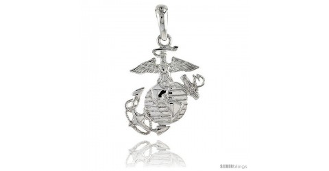 Sterling silver us marines eagle globe anchor pendant flawless sterling silver us marines eagle globe anchor pendant flawless quality 78 in 23 mm tall silverblings aloadofball Choice Image