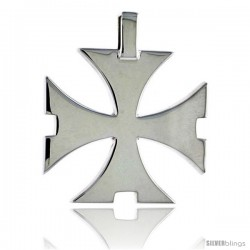 Sterling Silver Saint John's / Maltese Cross / Regeneration Cross, 1 in (25 mm) tall
