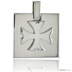 Sterling Silver Saint John's / Maltese Cross / Regeneration Cross, 3/4 in (20 mm) tall