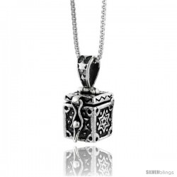 Sterling Silver Prayer Box with Star of David Design