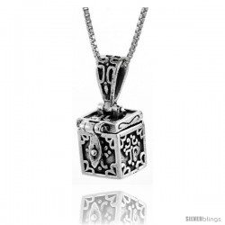 Sterling Silver Prayer Box with Cross
