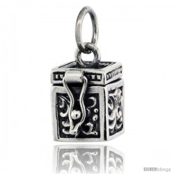 Sterling Silver Prayer Box with Floral Designs